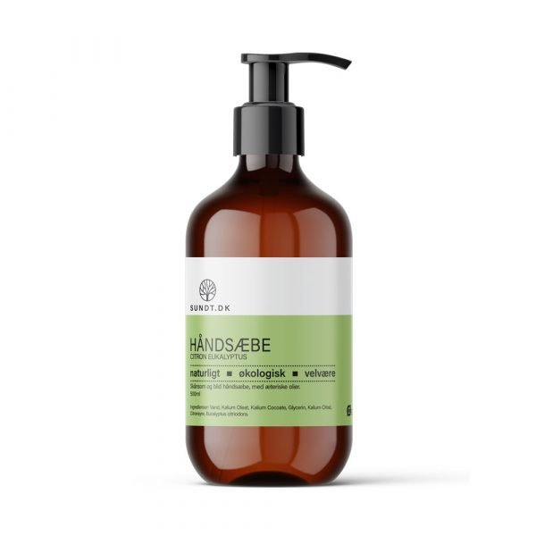 Økologisk håndsæbe med økologisk citron eukalyptus æterisk oile 500 ml